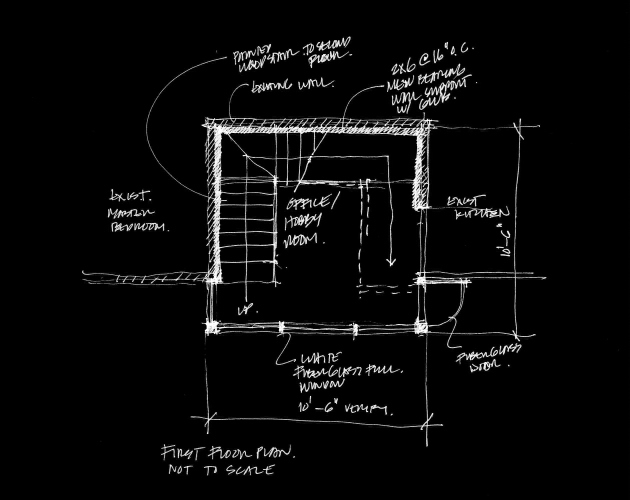 Terpstra Addition First Floor Plan B&W