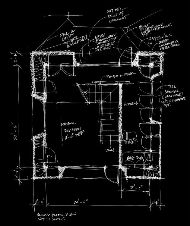 Terpstra Addition Second Floor Plan B&W